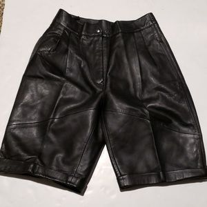 High waisted leather shorts size 6